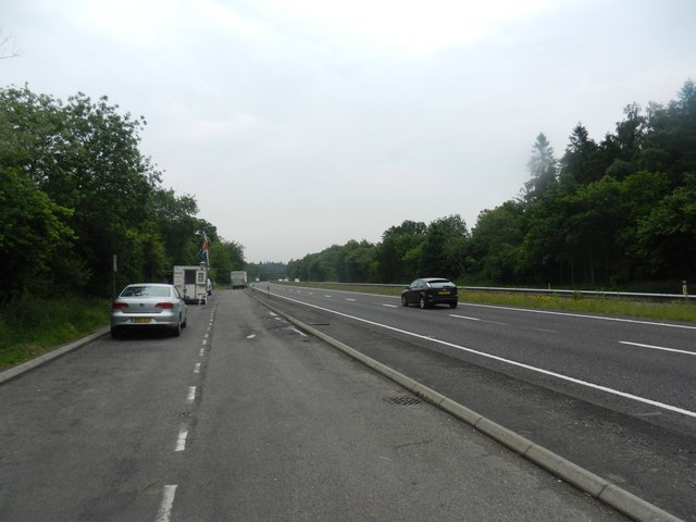 Looking north on A3 at Greatham