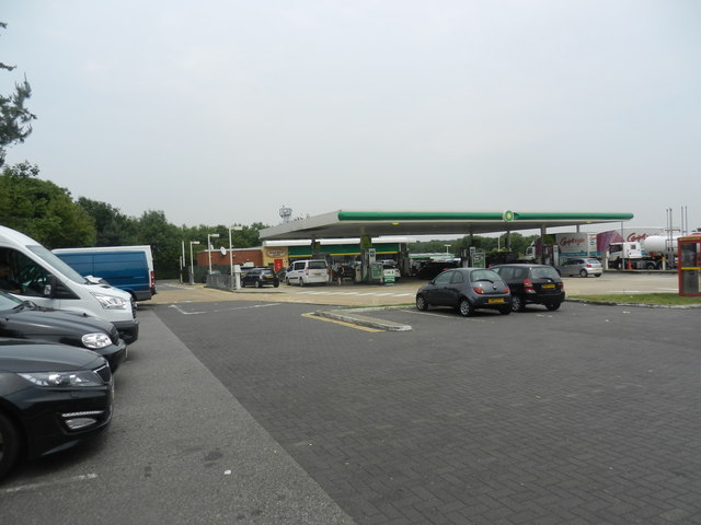 Car park and filling station