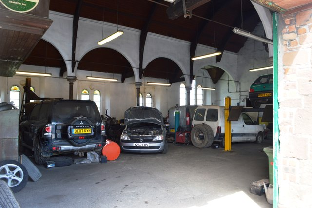 Inside St John's Garage.