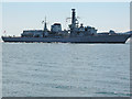 SX4751 : Plymouth Sound: HMS Monmouth by Martin Bodman