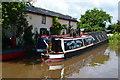 SJ6544 : Narrowboats moored in winding hole near Moss Hall by David Martin