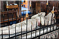 SJ5658 : St Boniface church, Bunbury - monument to Sir Hugh de Calveley (2) by Mike Searle
