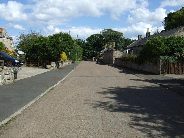 Village street, Ellingham