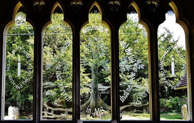 St Etched Glass