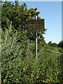TL0652 : Sign near the bridleway by Adrian Cable