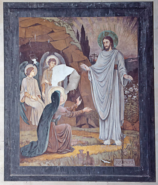 Resurrection painting, West Tofts church