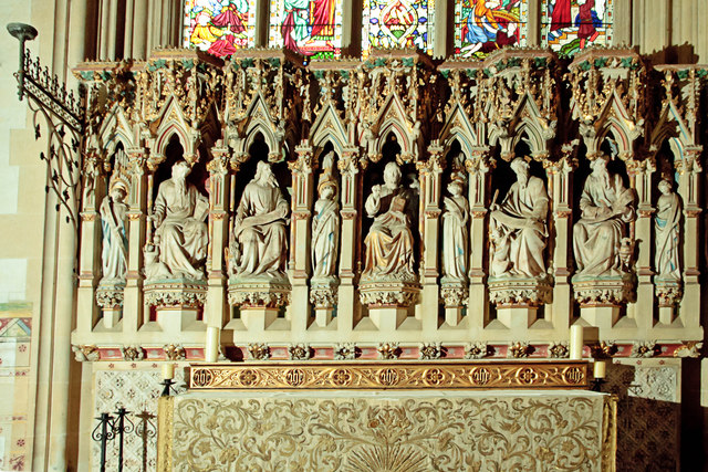 Reredos, West Tofts church