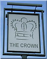 TL1737 : Sign for the Crown, Henlow by JThomas