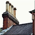 J3373 : Chimney pots, Gt Victoria Street, Belfast (August 2015) by Albert Bridge