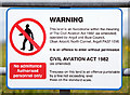 NM9034 : Notice - Oban Airport by The Carlisle Kid