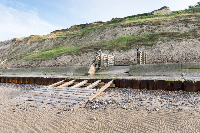 Restricted beach access below Trimingham