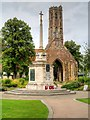 TF6219 : King's Lynn War Memorial and Greyfriars Tower by David Dixon