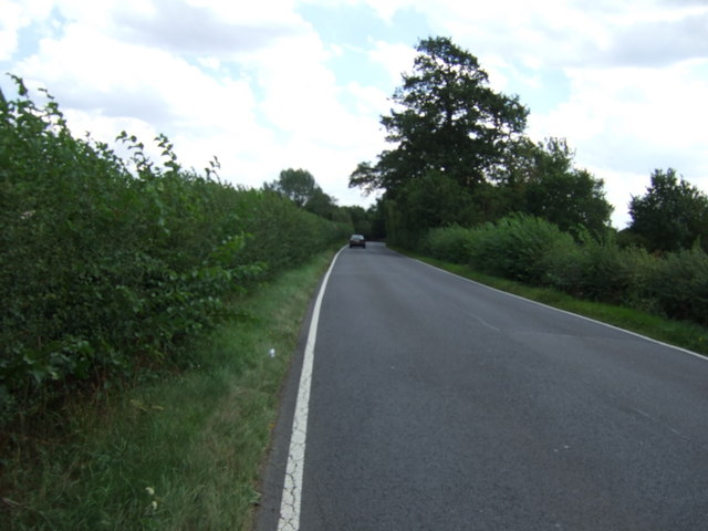 Minor road towards Hulcote