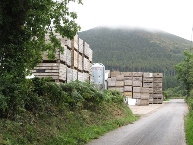 Potato crates at Mourne Veg Farm Shop next to the Whitewater Brewery