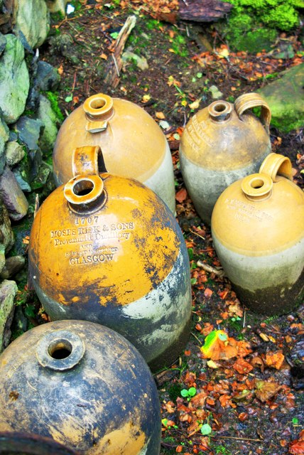 Old whisky jars at the Folk Museum