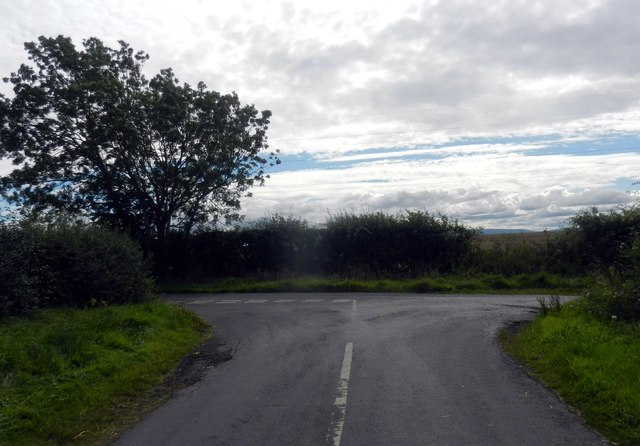 Minor road junction at Butterlaw
