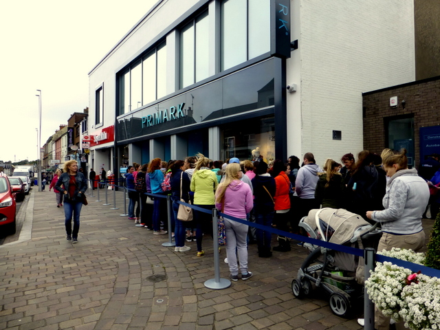Queuing up, Omagh