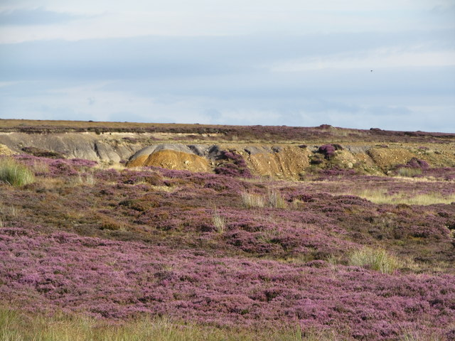 Old quarry at the moor edge
