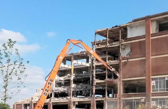 Demolition of Cadburys in Somerdale, Keynsham