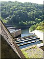 SS9629 : Stepped pools for the spillway at Wimbleball Lake dam by David Smith