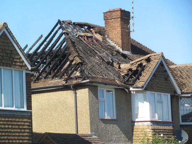 Fire Damaged House In Highfield Road 169 Chris Reynolds