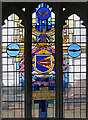 TL3042 : St Catherine, Litlington - Stained glass window by John Salmon