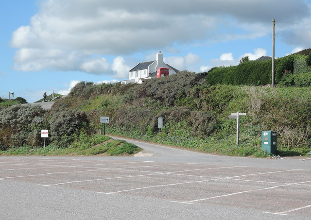 Bigbury-on-Sea: by the end of the car park