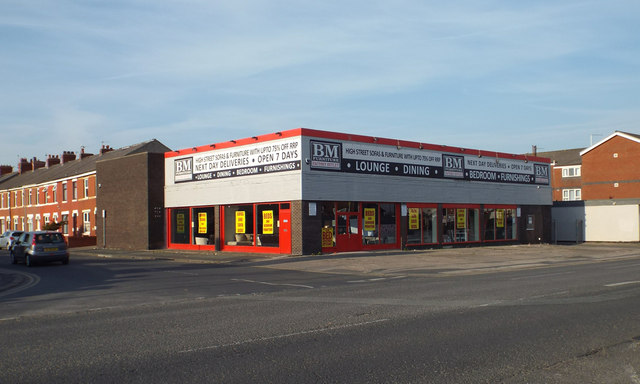 Bm Furniture Factory Outlet Corner Of Robin Stott Cc By Sa 2 0 Geograph Britain And Ireland