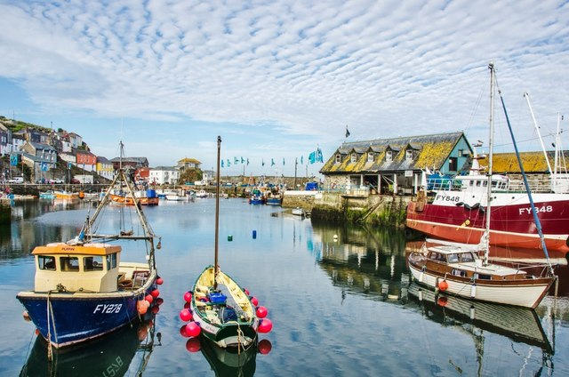 Mevagissey Harbour: Mackerel Skies