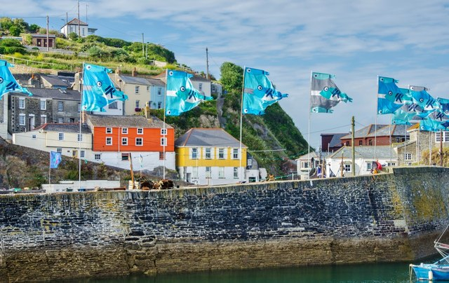 Mevagissey Harbour: Flags on the Quay