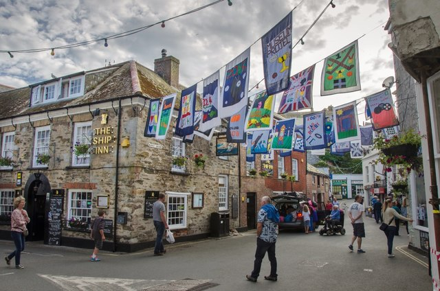 Mevagissey: Flags For Food Festival