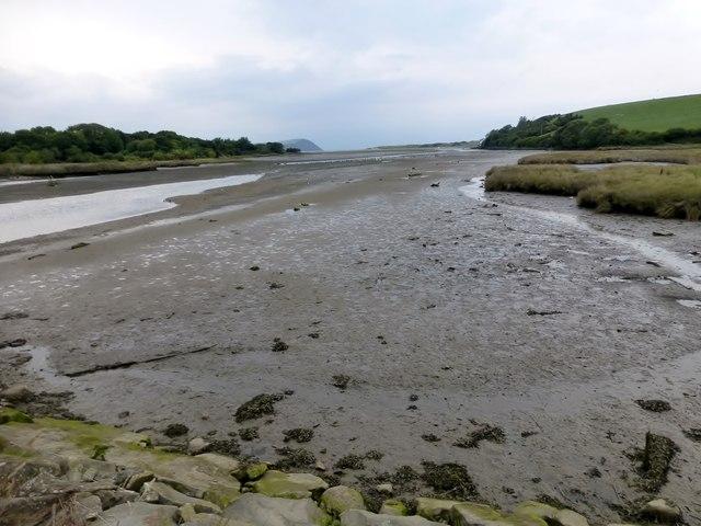 Afon Nyfer At Low Tide
