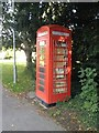 TL3952 : Harlton Phone Box - ex by Dave Thompson