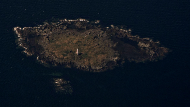 Lady Isle from the air