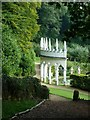 SO8610 : Painswick Rococo Gardens - The Exedra - side view by Rob Farrow