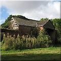 TL5444 : Derelict barn at Catley Park : Week 39