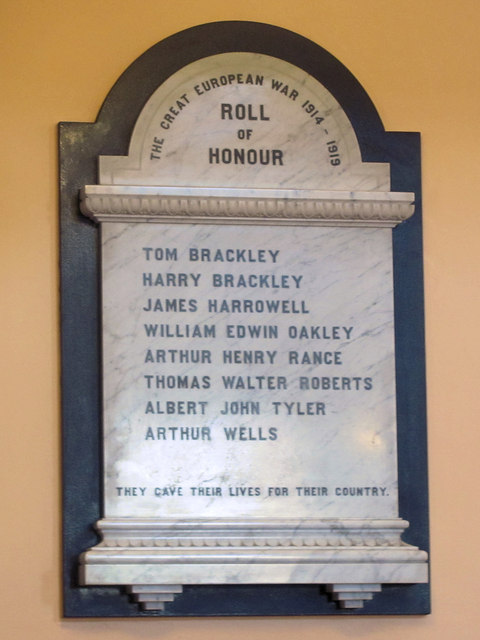 War Memorial, New Mill Baptist Church