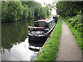 TQ0586 : Cushty, narrowboat on Grand Union Canal by David Hawgood