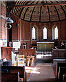 TL3363 : Knapwell: All Saints - interior by John Sutton