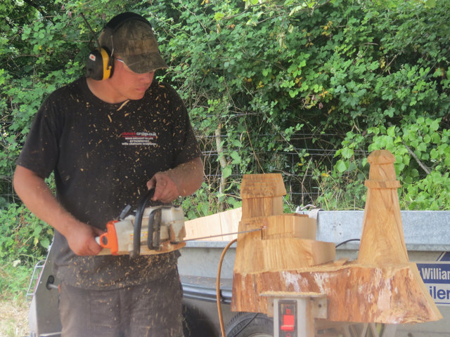 A demonstration of wood carving with chris reynolds