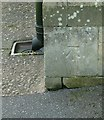 SK7079 : Bench Mark, Church of All Hallows, Ordsall by Alan Murray-Rust