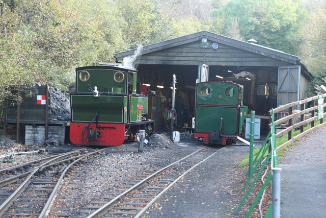 Engine shed on the Lynton and Barnstaple Railway