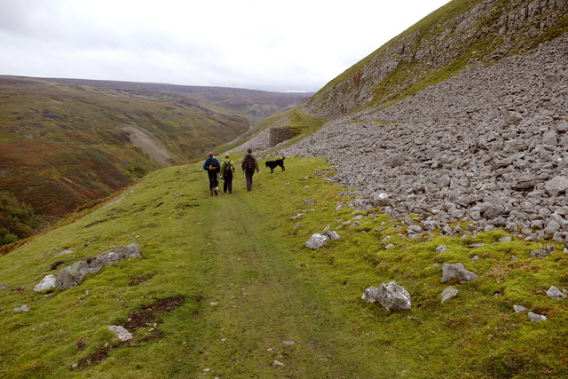Gunnerside Gill track below Winterings Scar