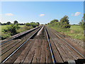 SJ6451 : Railway south-west from Green Lane level crossing by Stephen Craven