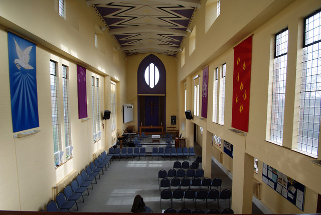 St Barnabas Church, Adeyfield: Interior view