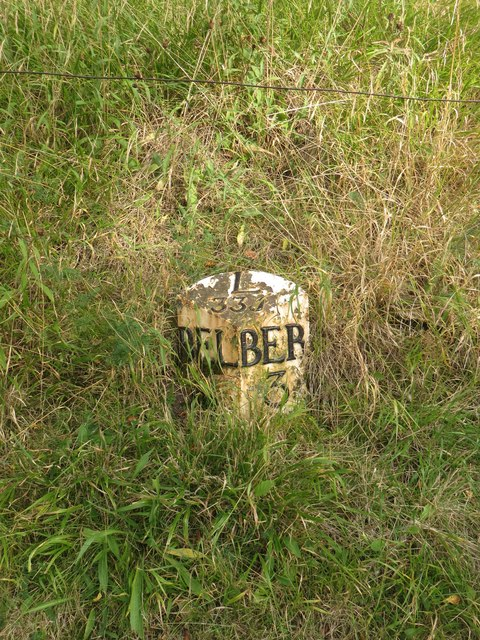 Milepost near Scremerston Old Colliery