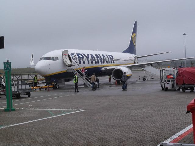 Ryanair flight to Bratislava, Stansted Airport, Essex