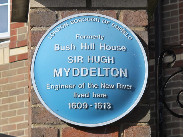 Photo of Hugh Myddelton blue plaque