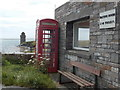 HY4716 : Shapinsay: telephone box at Balfour by Chris Downer