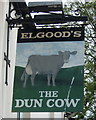 TL4996 : Sign for the Dun Cow, Christchurch by JThomas